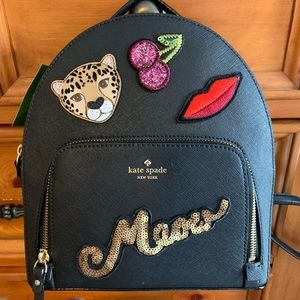 NWT Kate Spade Run Wild Leopard Tomi Backpack